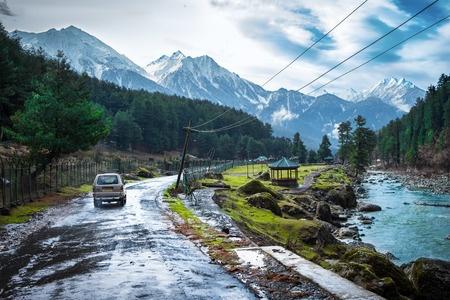 The beautiful nature with Himalaya Mountain background Kashmir, India